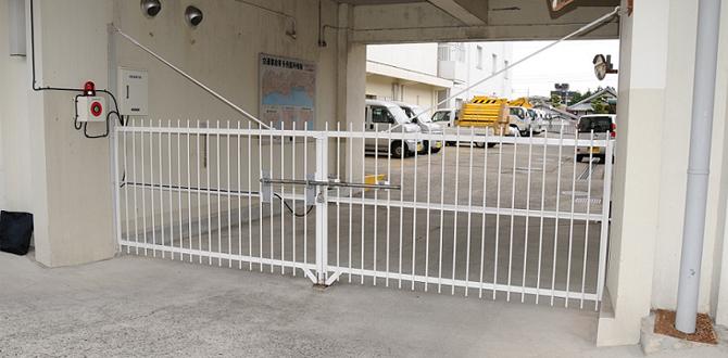 門扉用カンヌキ解錠装置